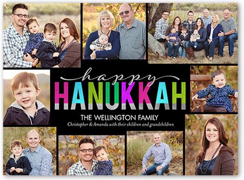 Cheerful Hanukkah Spirits Hanukkah Card, Square