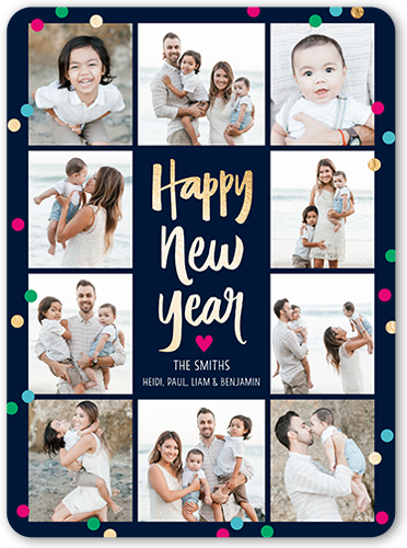 Glorious Grid New Year's Card