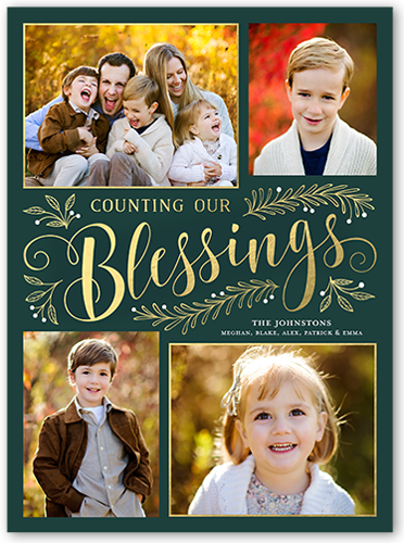 Sending Our Blessings Religious Christmas Card, Square