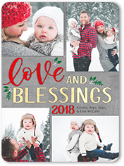 blessed by love religious christmas card - Personalized Religious Christmas Cards