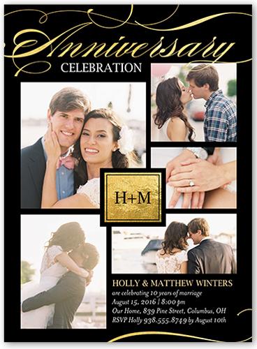 Graceful Love Wedding Anniversary Invitation, Square Corners