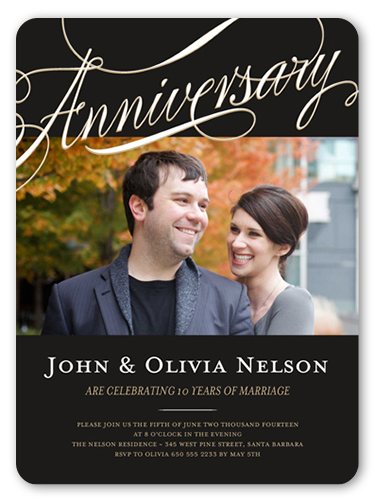 Endless Devotion Wedding Anniversary Invitation