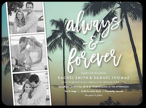 Fun Type Filmstrip Wedding Invitation, Square