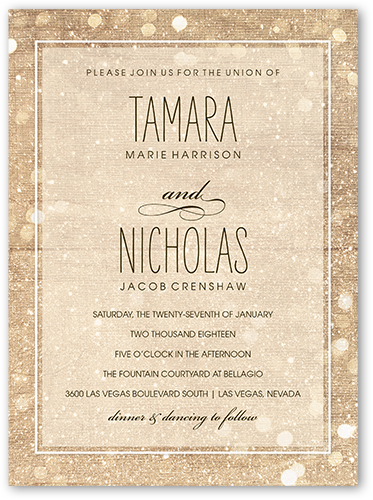 Sparkly Lights 6x8 Wedding Invitations Shutterfly