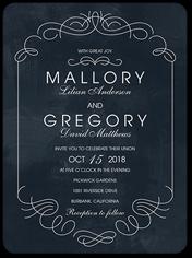 elegant embellishments wedding invitation 6x8 flat
