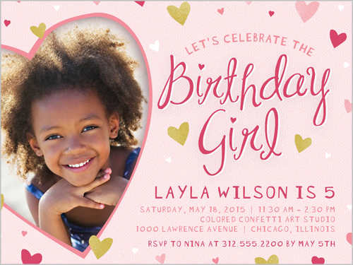 Sweetheart Frame Birthday Invitation