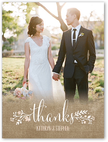 Wreath In Love Wedding Thank You Cards