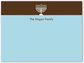 modern menorah thank you card 4x5 flat