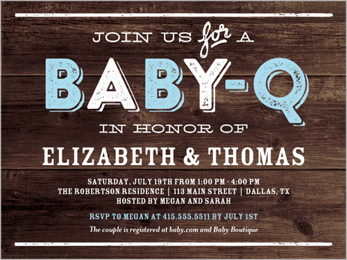 BabyQ Party Boy 4x5 Baby Shower Invitations Shutterfly