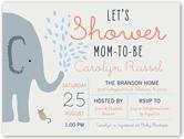 elephant shower boy baby shower invitation 4x5 flat