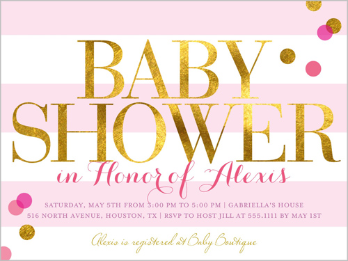 Shower Love Pink Baby Shower Invitation | Invitations | Shutterfly