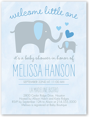 How to address baby shower invitations shutterfly sweet elephant boy baby shower invitation filmwisefo Gallery