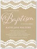 laced border baptism invitation 4x5 flat