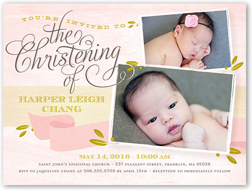Precious Moment Girl Baptism Invitation by pottsdesign