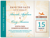 ticket to paradise save the date 4x5 flat