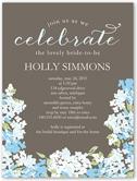 blooming hydrangea bridal shower invitation invitations 4x5 flat