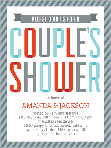 couple's shower 4x5 invitation | bridal shower invitations,