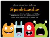 spooktacular halloween invitation 4x5 flat