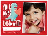you are dinomite valentines card 4x5 flat