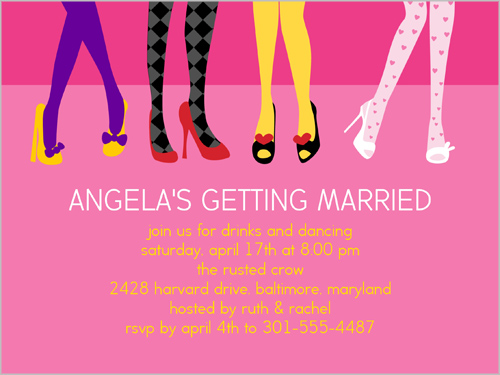 Stylish Attitudes Bachelorette Party Invitation