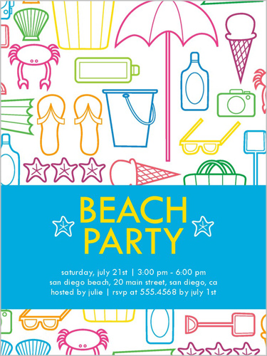 Beach Party Fun Summer Invitation