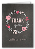 crafty collage girl thank you card 3x5 folded
