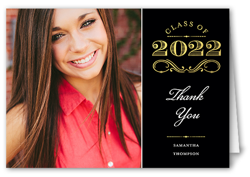 Regal Graduate Thank You Card