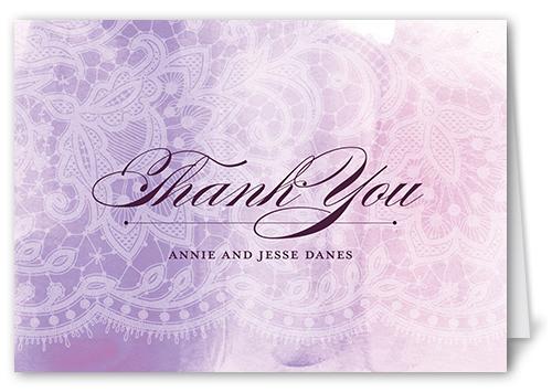 exquisite lace thank you card by petite lemon