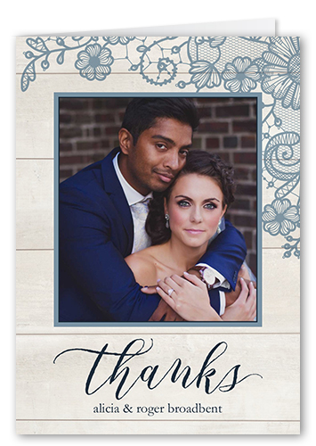 Lovely Lace Frame Thank You Card