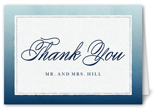 Watercolor Wedding Thank You Card