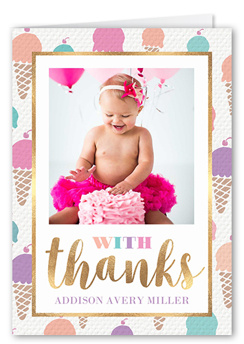 Cone Pattern Thank You Card