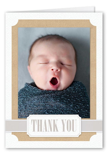 Newborn Ribbon Thank You Card