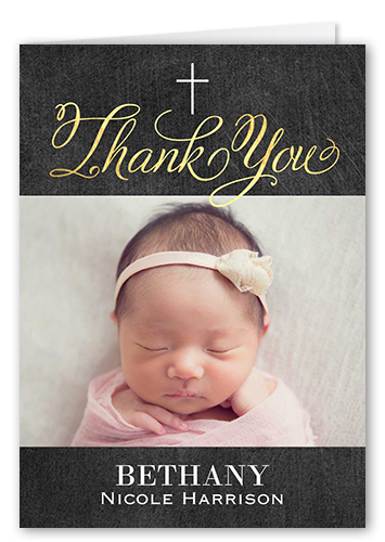 Special Christening Thank You Card