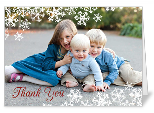 Delicate Snowflakes Thank You Card