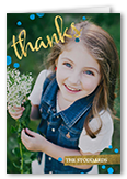 thank you foil thank you card 3x5 folded