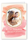 watercolor frame thank you card 3x5 folded