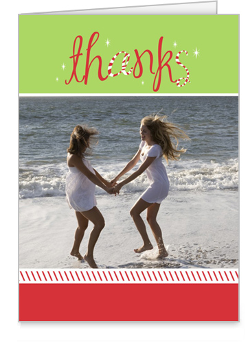 Peppermint Bliss Holiday Thank You Card