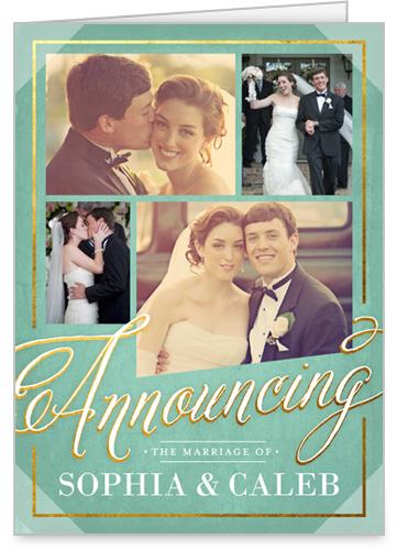 Elegantly Announcing Wedding Announcement
