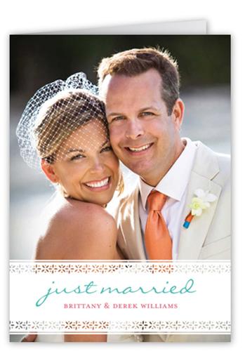 Laced Love Wedding Announcement, Square Corners