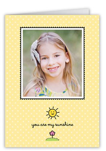 My Sunshine 5x7 Folded Card, Square Corners