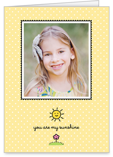 My Sunshine 5x7 Folded Card