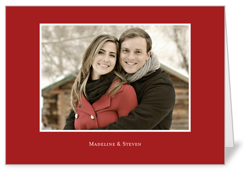 Classic Scarlet 5x7 Folded Card, Square Corners