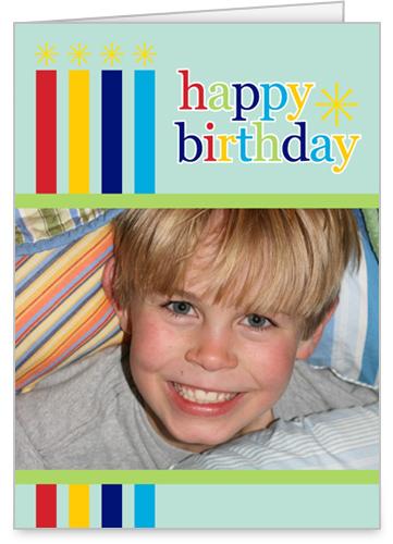 Birthday Candles Blue Birthday Card by Erin Condren