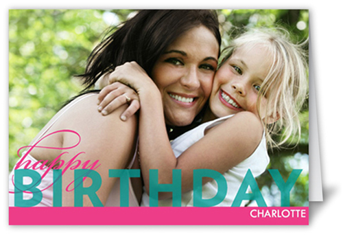 Bold Birthday Teal Birthday Card