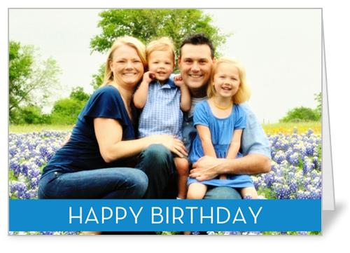 Birthday Banner Blue Birthday Card by Blonde Designs