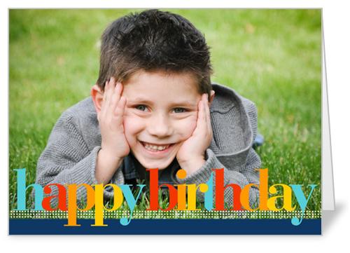 Birthday Colors Blue Birthday Card by Petite Lemon