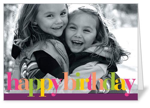 Birthday Colors Plum Birthday Card by Petite Lemon