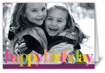birthday colors plum birthday card