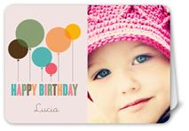 fun balloons pink birthday card