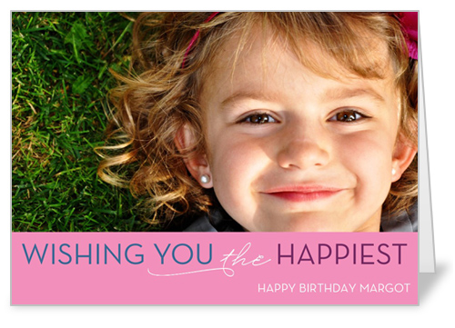 Think Pink Birthday Card by Float Paperie